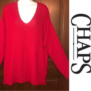 NWOT Chaps V-Neck Sweater